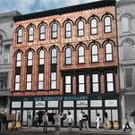 A rendering shows the planned Old Forester Distillery being built by Brown-Forman.