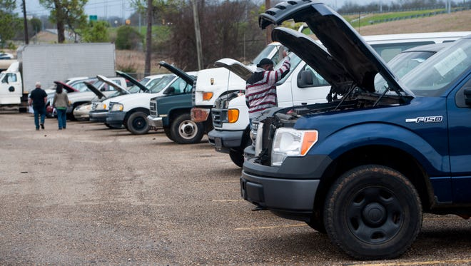 Hundreds of items, from trucks to office equipment, are up for auction.