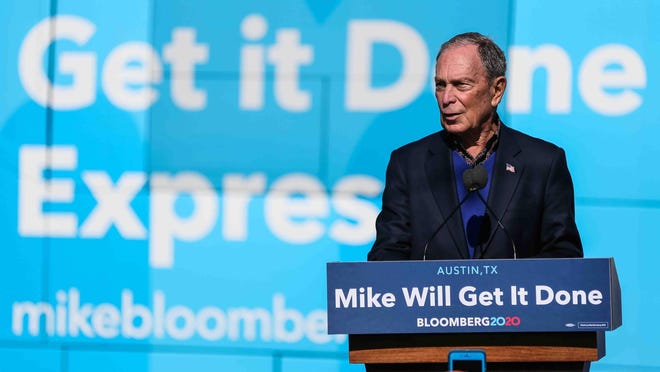 Mike Bloomberg kicks off his presidential campaign in Austin on Saturday, January 11, 2020.