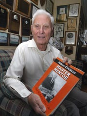 - - Text: TimMcCarthy/staff photographer 010505 - PSPORTS - Brick Twp., Warren Wolf has written a book about his mentor Coach Joe Coviello --- Eds Note: this is a photo of the book jacket , the book itself is not yet available