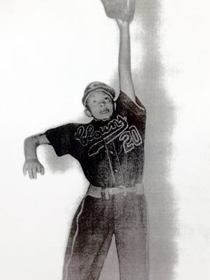"""Mamie Johnson, who played for the Indy Clowns, a women's negro baseball league team, from 1953-1955, currently runs a store called """"The Negro Leagues,"""" in Capitol Heights, Md., just outside Washington, D.C."""