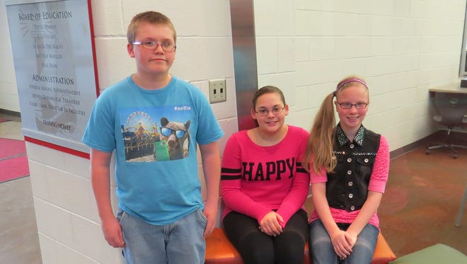 Left to right: Tristan Laird, Alexis Minney, Cara Linn.