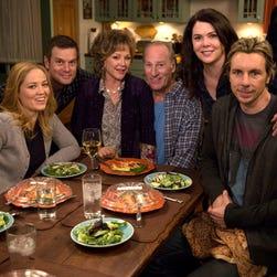 NBC's 'Parenthood' stars, from left, Erika Christensen, Peter Krause, Bonnie Bedelia, Craig T.Nelson, Lauren Graham and Dax Shepard.