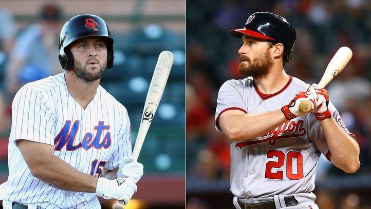Tim Tebow turns to Daniel Murphy as a baseball mentor