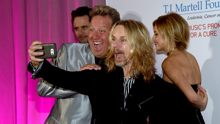 Shawn Parr and Tommy Shaw of Styx attend the T.J. Martell