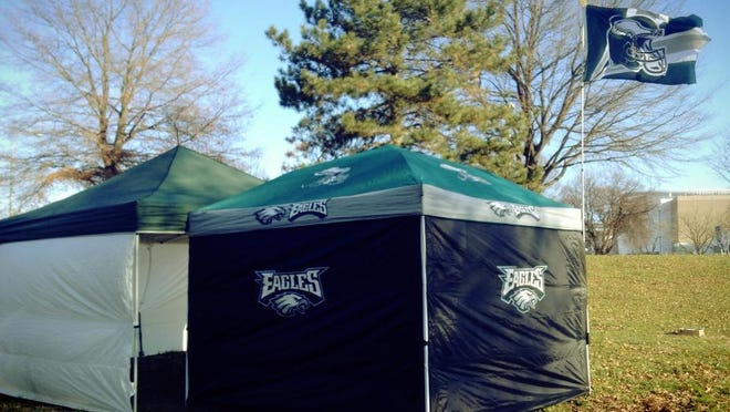 Our tailgate setup before a game last year.