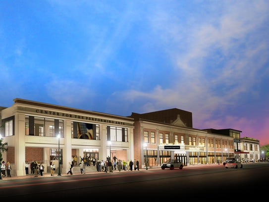 The expanded Count Basie Theatre, an seen in a rendering.