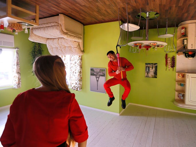 Exploring the upside down house