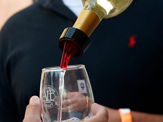Sip 1-ounce samples of wine while listening to music at the Indiana Wine Fair.