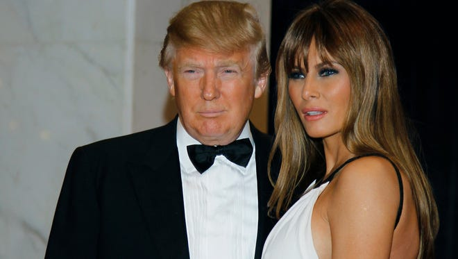 Donald and Melania Trump at the White House Correspondents Association dinner in 2011.