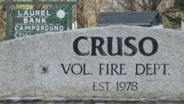 A Cruso firefighter was injured in an accident Sunday.
