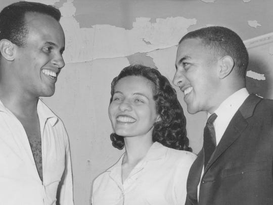 Musician and actor Harry Belafonte, left, Freedom Rider