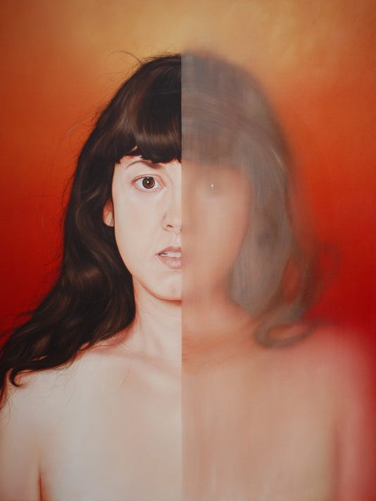 Oh MY Love, What a Mirror Reflection We Are, oil on canvas by Jenny Morgen.jpg