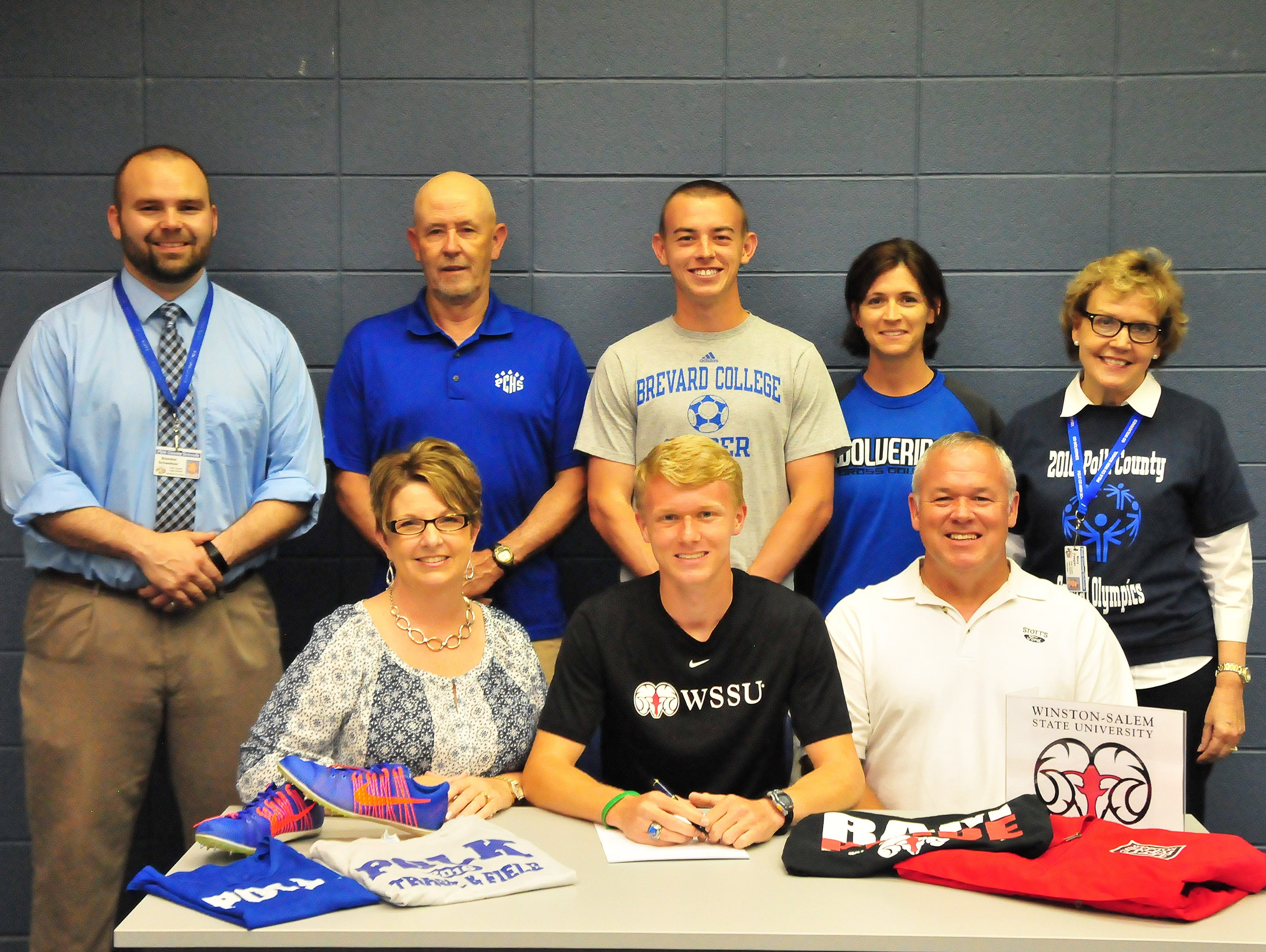 Polk County senior Mitchell Brown has signed to run college cross country and track for Winston-Salem State.