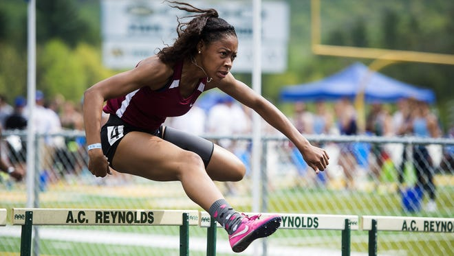 Asheville High junior Alion Belvin competes in Saturday's Blue Ridge Classic track meet at Reynolds.