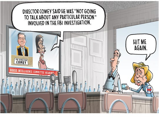FBI Director Comey testifies before Congress.