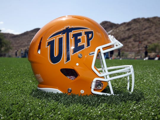 The new UTEP helmet for the 2018 season was unveiled