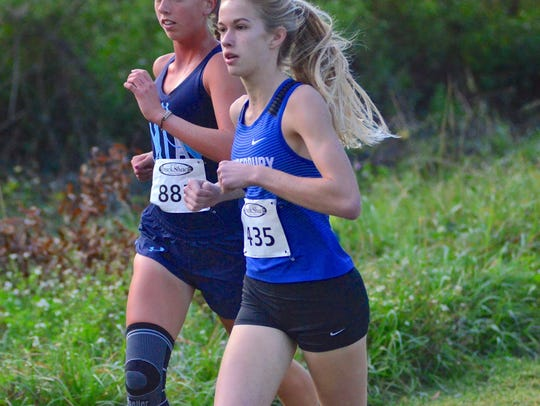 The Canterbury School's Jessica Edwards finished third