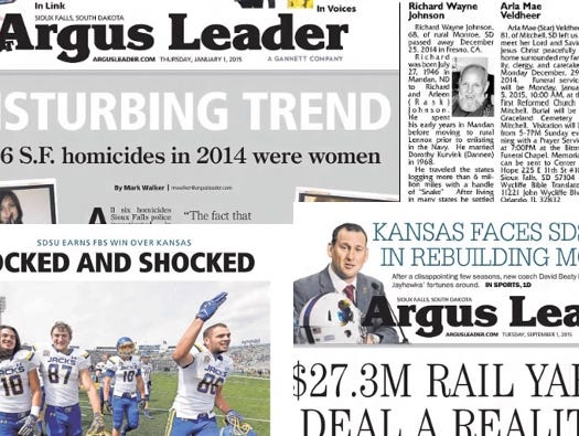 Insiders have FREE access to two years of the Argus Leader's vault of archived copies of the print edition.