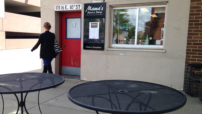 The new walk-up window at Mama's Phried and Phillys.