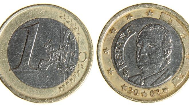 iStockphoto Old Worn Euro Dollar Coin