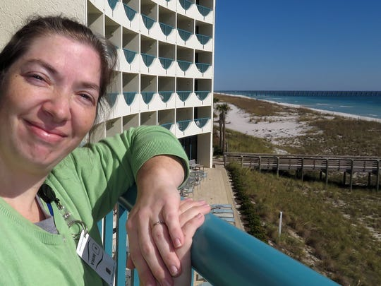 Robin Kilna, Executive Assistant for Housekeeping at the Holiday Inn Express on Pensacola Beach.