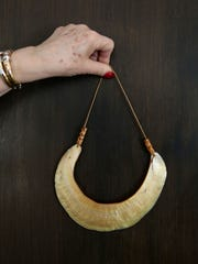 A necklace made of shell from Papua New Guinea at the