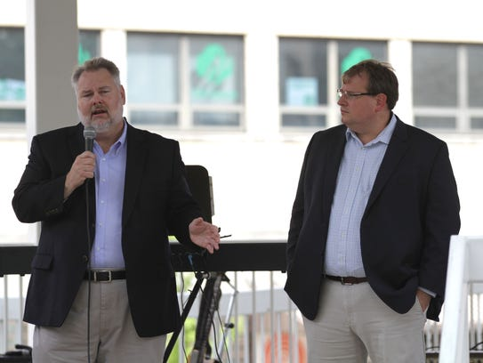 State Rep. Mark Romanchuk, along with Ssate Sen. Larry