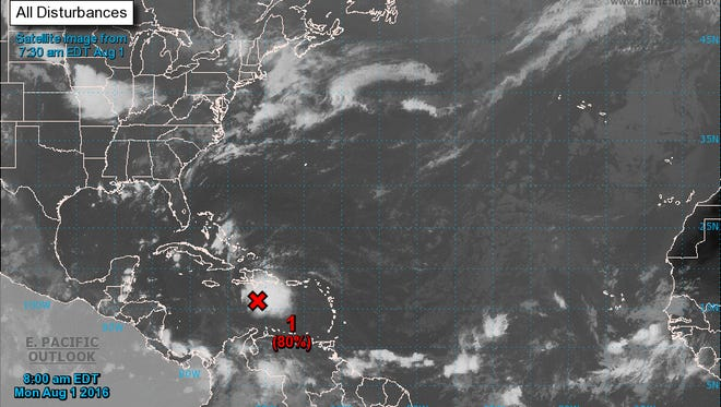 National Hurricane Center meteorologist are watching the development of a system taking aim at the western Caribbean