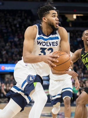 Karl-Anthony Towns poured in 56 points on 19-of-32 shooting.