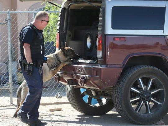 Oficiales utilizaron en la operación de búsqueda perros