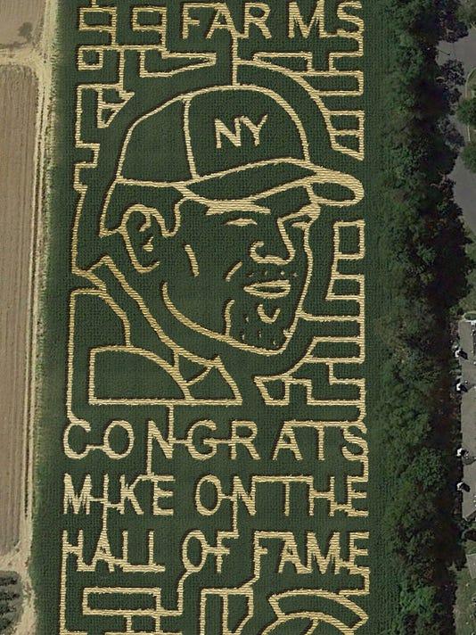 Mike Piazza corn maze
