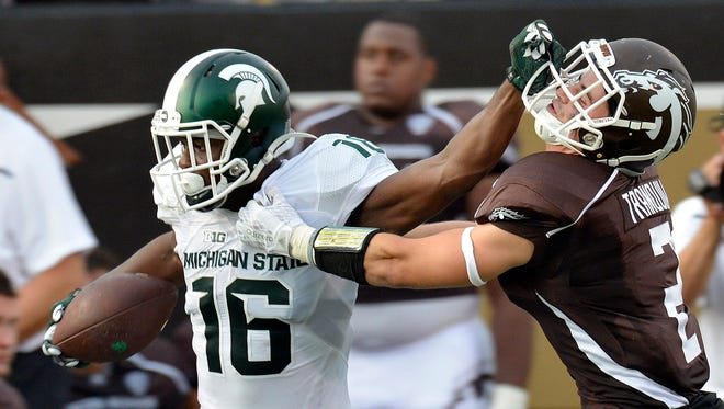 Aaron Burbridge is MSU's leading receiver, with 25 catches for 414 yards.