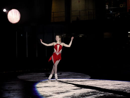 "Nicole Rajicova skates during ""Ice Dreams 2018"" for"