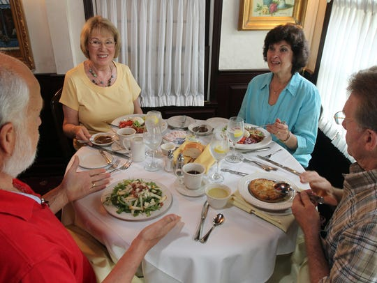 Enjoying lunch at the Lincroft Inn in this 2013 file
