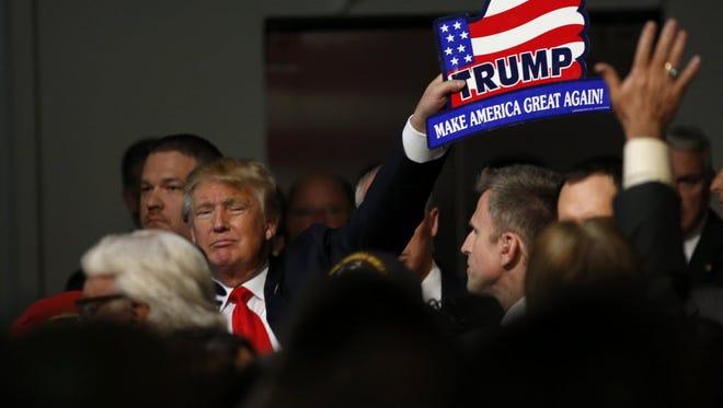 Donald Trump campaigns in Mount Pleasant, S.C., on Dec. 7, 2015.