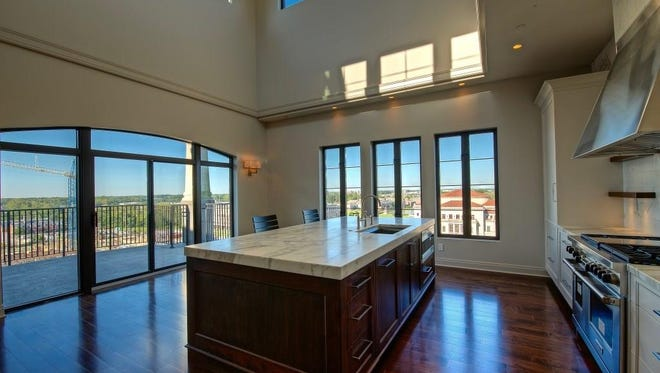 This 3,300 square-foot penthouse condo in Carmel includes two bedrooms, two and a half bathrooms. It is currently listed for $1.3 million.