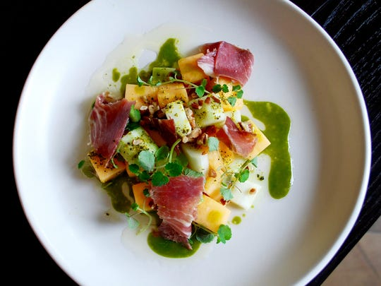 Henley: Cantaloupe-cucumber salad with country ham,