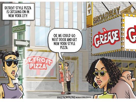Detroit pizza city