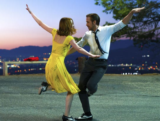 Ryan Gosling, right, and Emma Stone were both Oscar-nominated