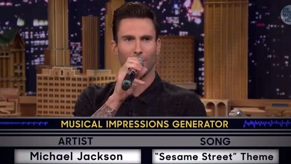 Adam Levine has sing-off with Jimmy Fallon.