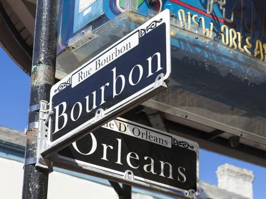 Bourbon Street sign in New Orleans, Louisiana