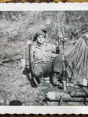 Robert Houghton, serving as an infantryman in Korea.