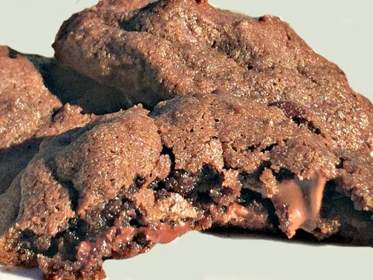 Triple chocolate chip cookies, the perfect back-to-school