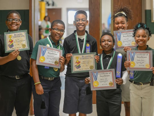 Fourth-graders at Isaac Lane Elementary School were awarded for reaching their Accelerated Reader goals Wednesday afternoon at Isaac Lane Elementary School.