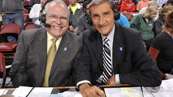 Jim Paschke (left) and Jon McGlocklin have been calling Bucks games since 1986.
