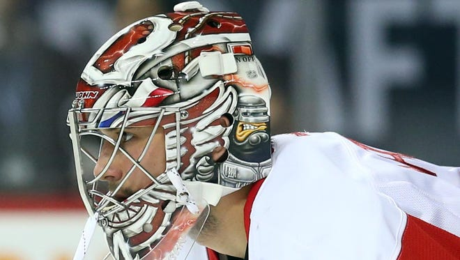 Petr Mrazek, B-plus: Emerged as the starter in December and played so well that in mid-February he looked like a Vezina contender (.933 save percentage, 1.94 GAA). Plummeted  through March and  April to finish 27-16-6 with a 2.33 GAA and .921 save percentage. Was pulled in final two starts of regular season. Got a chance to redeem himself in the playoffs (1-2, 1.35 and .945) and made 16 saves in shutout in first appearance. Terrible misplay of the puck cost the Wings Game 5. No question he is the goaltender of their future.