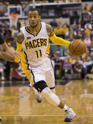 Monta Ellis of Indiana, Utah Jazz at Indiana Pacers, Bankers Life Fieldhouse, Indianapolis, Monday, March 20, 2017. Indiana won 107-100.