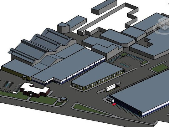 Conceptual view of planned plastics reprocessing facility