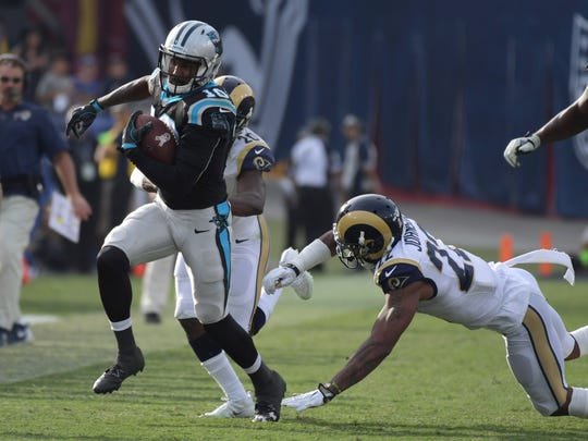 Wide receiver Philly Brown caught an 86-yard TD pass
